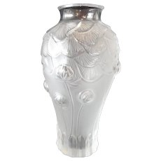 Lalique Crystal Frosted Vase