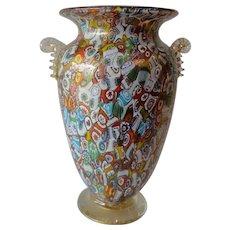 Millefiori Glass Vase by Amedeo Rossetto