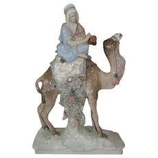 Czecho Slovakian Amphora Pottery Figure of a Musician on a Camel