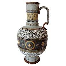 German Mettlach Pottery Ewer