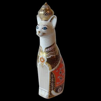 Royal Crown Derby Royal Siamese Cat Paperweight