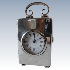 Sterling Silver Carriage Clock by William Comyns