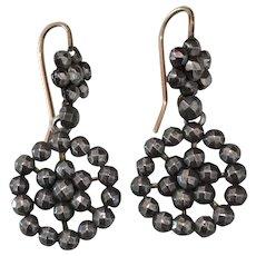 c. 1830's Georgian Cut Steel Earrings
