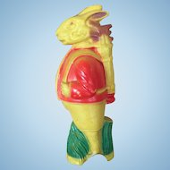 Vintage 1930's Celluloid Golfer Bunny Rabbit Rattle