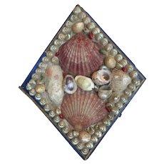 Victotian Era Shell Art Sailor's Valentine Box