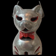 1950's Vintage Metal Halloween Cat Lantern with Handle