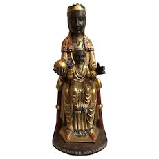 Collectible Black Mary Statue Mare De Deu De Montserrat