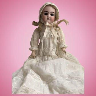 """Antique German Bisque 18"""" Handwerck Mold No. 109 Brown Eyed Doll"""