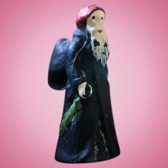 Antique Miniature Glass Czechoslovakia Santa Claus Belsnickel Charm RARE