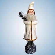 """Vintage 1980's 11.25"""" Tall Ino Schaller Paper Mache German Christmas Santa Belsnickel"""