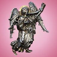 Vintage 1993 MMA Christmas Angel Pin Pendant