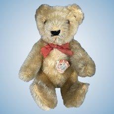 Vintage 1950's Original Steiff Golden Mohair Jointed Teddy Bear