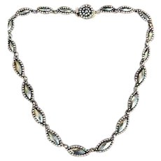 Antique Georgian Cut Steel Choker Length Necklace in Pristine Condition