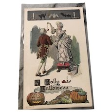 Vintage 1907 Halloween Postcard w/Courtly Couple