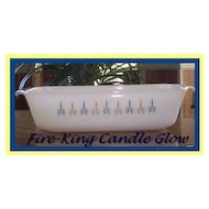 Anchor Hocking Fire King Candleglow Loaf Pan