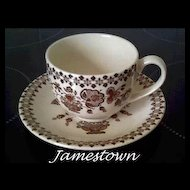 Johnson Bros Jamestown Cup & Saucer ~ 12 available