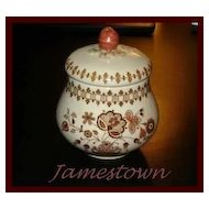 Johnson Bros Jamestown Old Granite Sugar Bowl