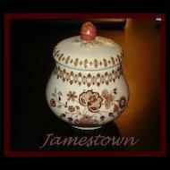 Johnson Bros Jamestown Old Granite Sugar Bowl