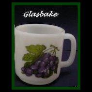 Glasbake Purple Grapes Mug