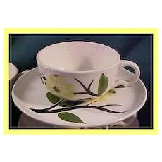 Pottery & China Noritake Kent 4 Tea Cups & 6 Saucers Silver Pink Flower Green Leaves Lustrous
