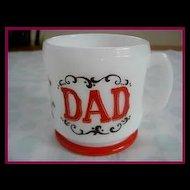 Hazel Atlas Gay Nineties DAD Shaving Mug