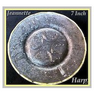 Jeannette Glass Harp Crystal Dessert Plate ~ 6 available