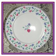 SPAL Porcelanas Floral Plate ~ 10 available