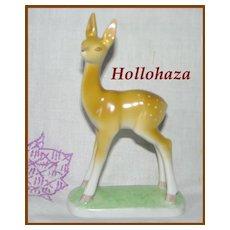 Hollohaza Hungarian Porcelain Fawn Doe Deer Figurine