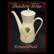Rosenthal SHADOW ROSE --  Coffee Pot