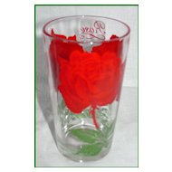 Boscul Peanut Butter Red Rose Glass