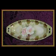 RS Germany Reinhold Schlegelmilch Tillowitz Porcelain Celery Tray