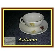Franciscan China Autumn Cup & Saucer Set ~ 8 Available
