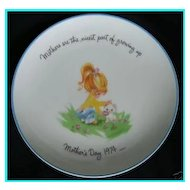 Gigi Collectible Mother's Day Plate 1974