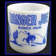 Ranger Joe Blue Ranch Mug Hazel Atlas