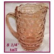 Indiana Glass Whitehall Pink Water Pitcher