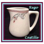 Rego China Castille Restaurant Ware Creamer Small Cream Pitcher