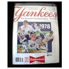 Yankees Magazine The Greatest Comeback Ever 1988