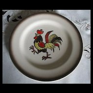 Metlox Poppytrail Vernon Red Rooster Salad Plate