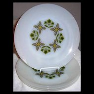 Fire King Meadow Green Dinner Plate ~ 4 available
