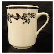 Jackson China Black Scroll Acanthyus Mug ~ 4 available