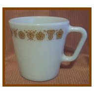 Pyrex Glass Butterfly Gold Mug ~ Set of 2