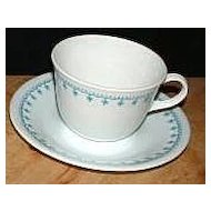 Corning Corelle Blue Garland ~ Snowflake Cup & Saucer