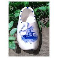 Blue Delftware Clog Wall Pocket Union Haarlem