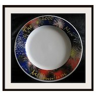 "Syracuse China ""2000 The New Millennium Charger Plate"""