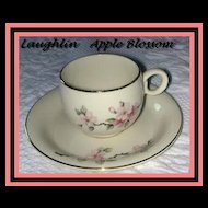 Homer Laughlin Apple Blossom Demitasse Cup & Saucer