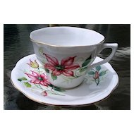 Crownford Staffordshire Floral Cup and Saucer