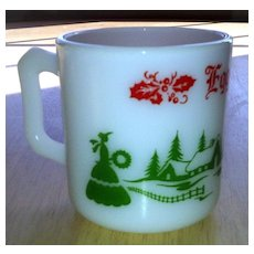Hazel Atlas Egg Nog Christmas Punch Cup