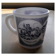 "Currier and Ives ""A Good Day's Sport"" Hazel Atlas Mug"