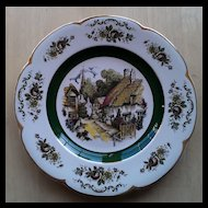 Enoch Wood and Sons Ascot Village Service Plate