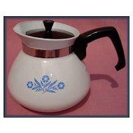 Corning Cornflower Blue 6 Cup Teapot Tea Pot